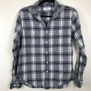 3/$20 Express Mens Blue Plaid Button Down Shirt